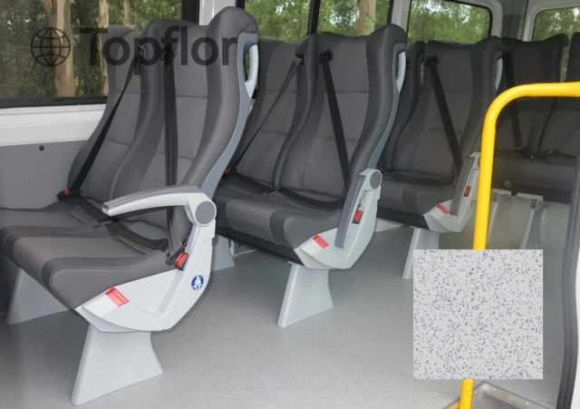 Durable Vinyl Floor Rolls Used For Bus Metro Flooring