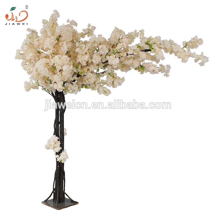 2017 New lifelike indoor artificial cherry blossom tree wedding decoration artificial decorative trees