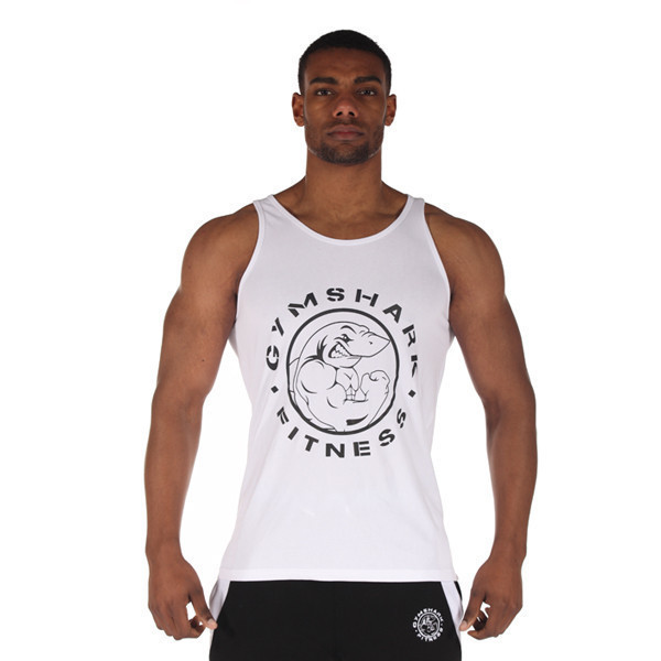 6f0810252b80e Get Quotations · Gym shark Cotton Sport Tank Top Men Gym Bodybuilding and Fitness  Clothing Muscle Tops Sleeveless Shirt