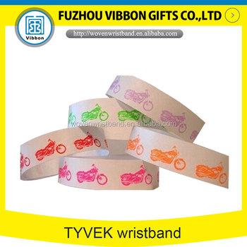 ad93d858e00d Personalizado papel Tyvek pulseras identificación impresión a todo color  para ...