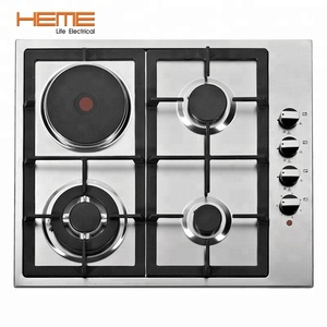 Stainless Steel Electric Cooker Commercial Cooking Equipment 4 Burner Gas And Electric Cooker Hob PGER6041S-A1CI