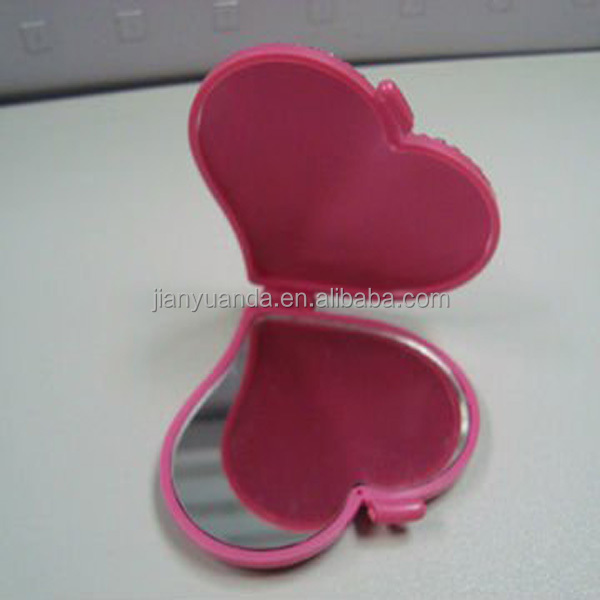 heart shape compact travel pocket mirror / simple pocket mirror / pocket mirror design fashion / foldable pocket makeup mirror