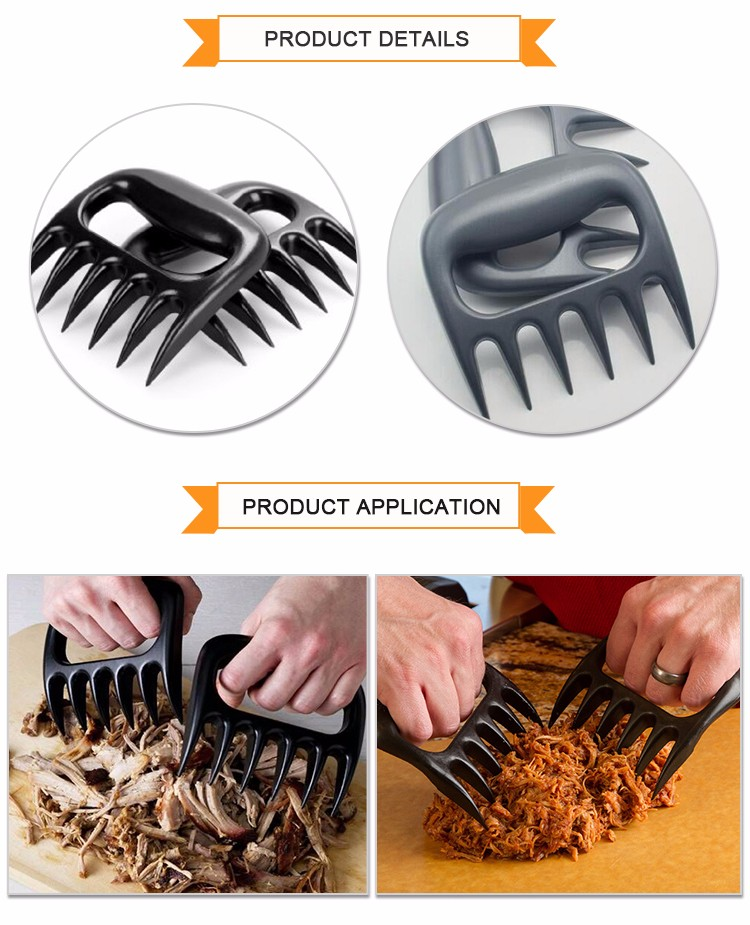 Black Heat Resistant BBQ Meat Claws