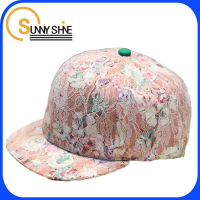Sunny Shine custom lace 6 panel snapback hat