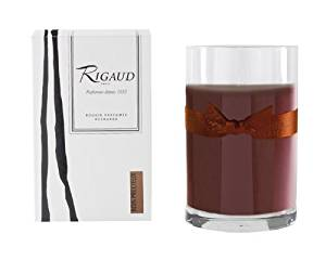 Rigaud Paris, Bois Precieux Large Candle Recharge (Refill) Bougie D'ambiance Parfumee, Grand Modele Recharge in Glass, Brown, 4.5 Inches Tall, 90 Hour Burn Life