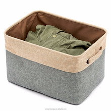 Foldable Canvas Linen Storage Bins Boxes Organizers for Kids Toys