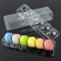 food gradeTransparent Blister Plastic Macaron Packaging box of 6 12 18 pcs