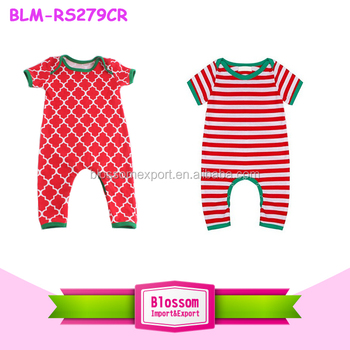 wholesale christmas pajamas onesie short sleeve long leg baby romper one piece jumpsuit infant clothes christmas - Wholesale Christmas Pajamas