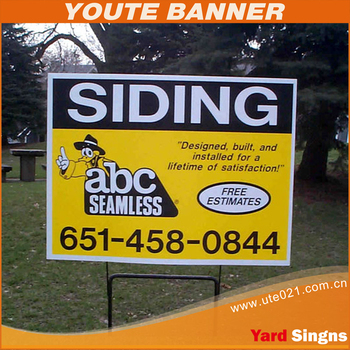 Yard signs printing,Coreflute sign / corrugated plastic Vote board printing