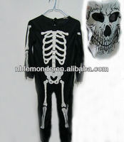 Wholesale hot sale horrible halloween costumes skull dress