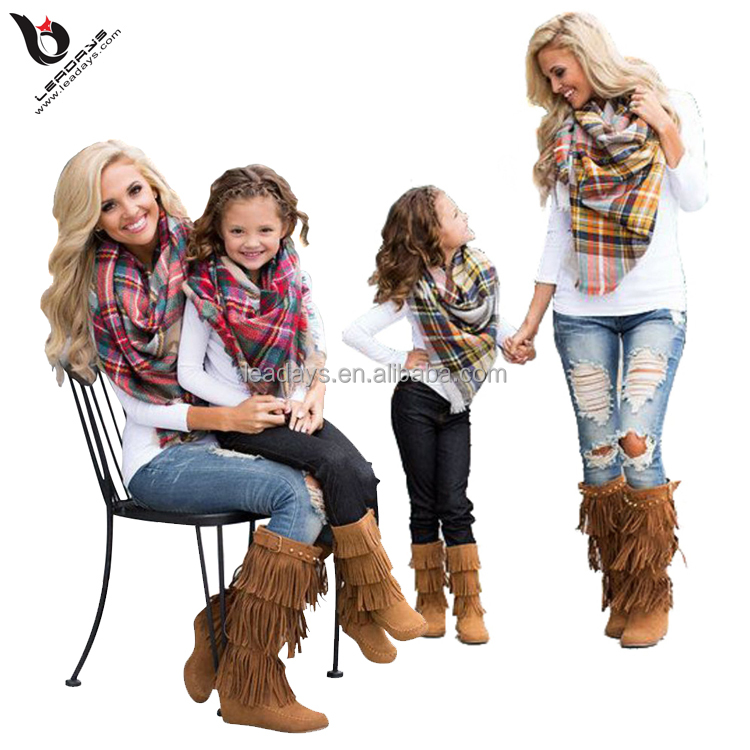blanket fringe oversize hot selling plaid <strong>scarf</strong>