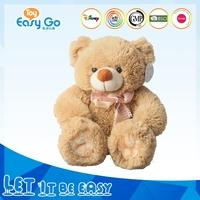 High quality seating ribbon plush stuffed teddy bear toys