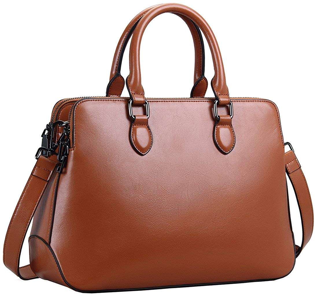 Heshe Leather Womens Handbags Totes Top Handle Shoulder Bag Satchel Ladies Purses