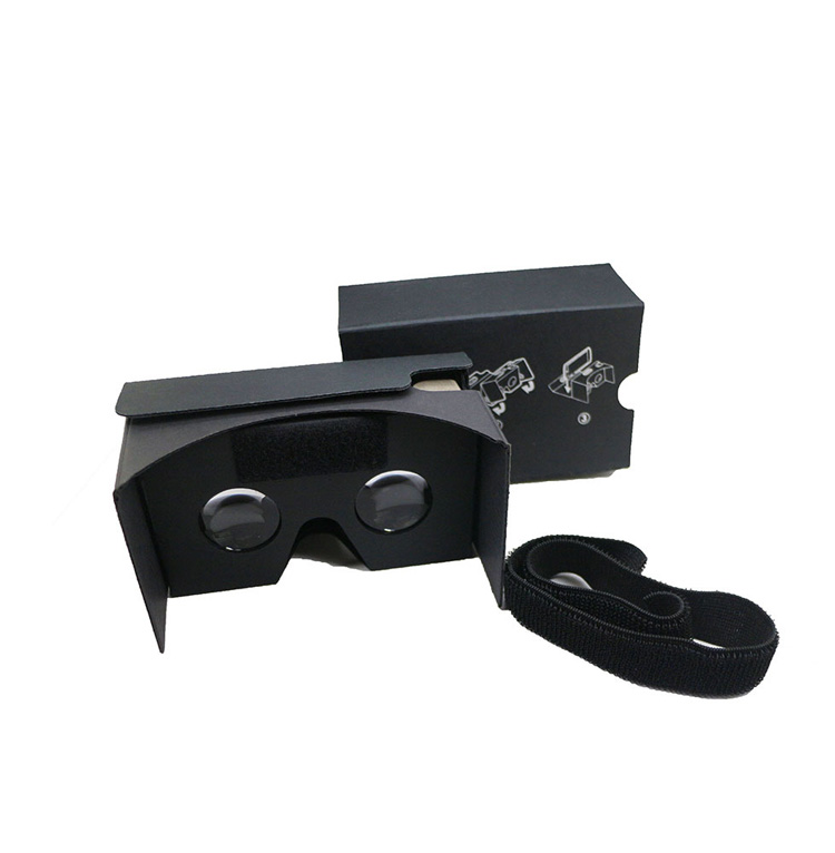 young people favor virtual reality 3D glasses for smart phone, latest google cardboard version 2.0 with custom printing