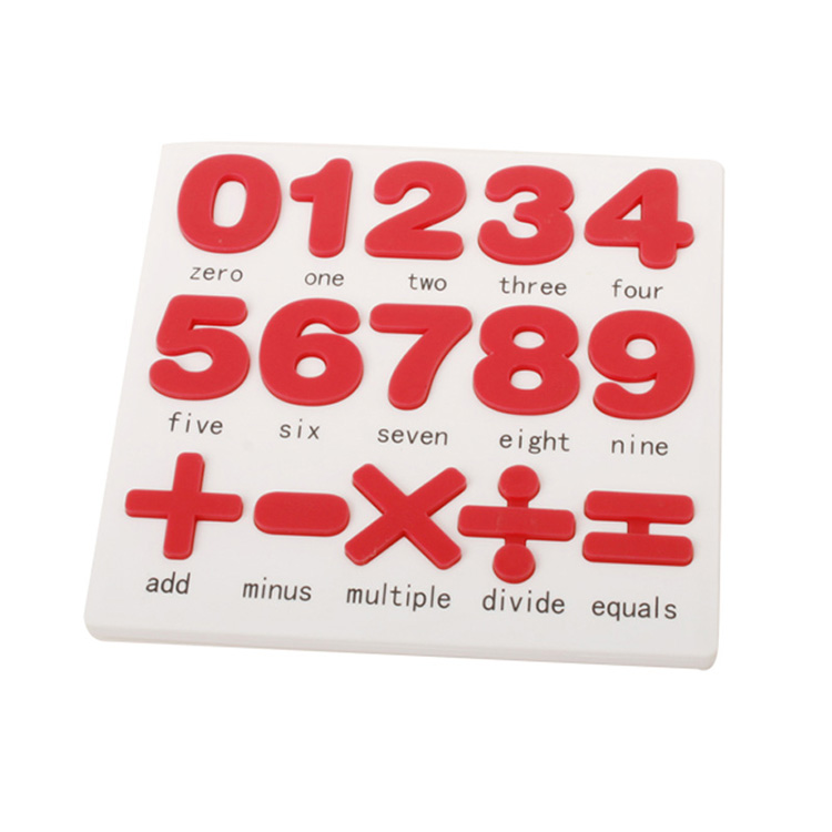 Counting Math Cross Arithmetic Silicone 3D Children Number Puzzle for Kids