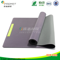Flexible,comfortable and long-lasting yoga mat with natural rubber base, yoga mat with wrap paper package