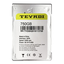 "TEYADI 9 millimetri di spessore 750 GB Internal Hard Disk Drive 2.5 ""Pull HDD per PC/Laptop"