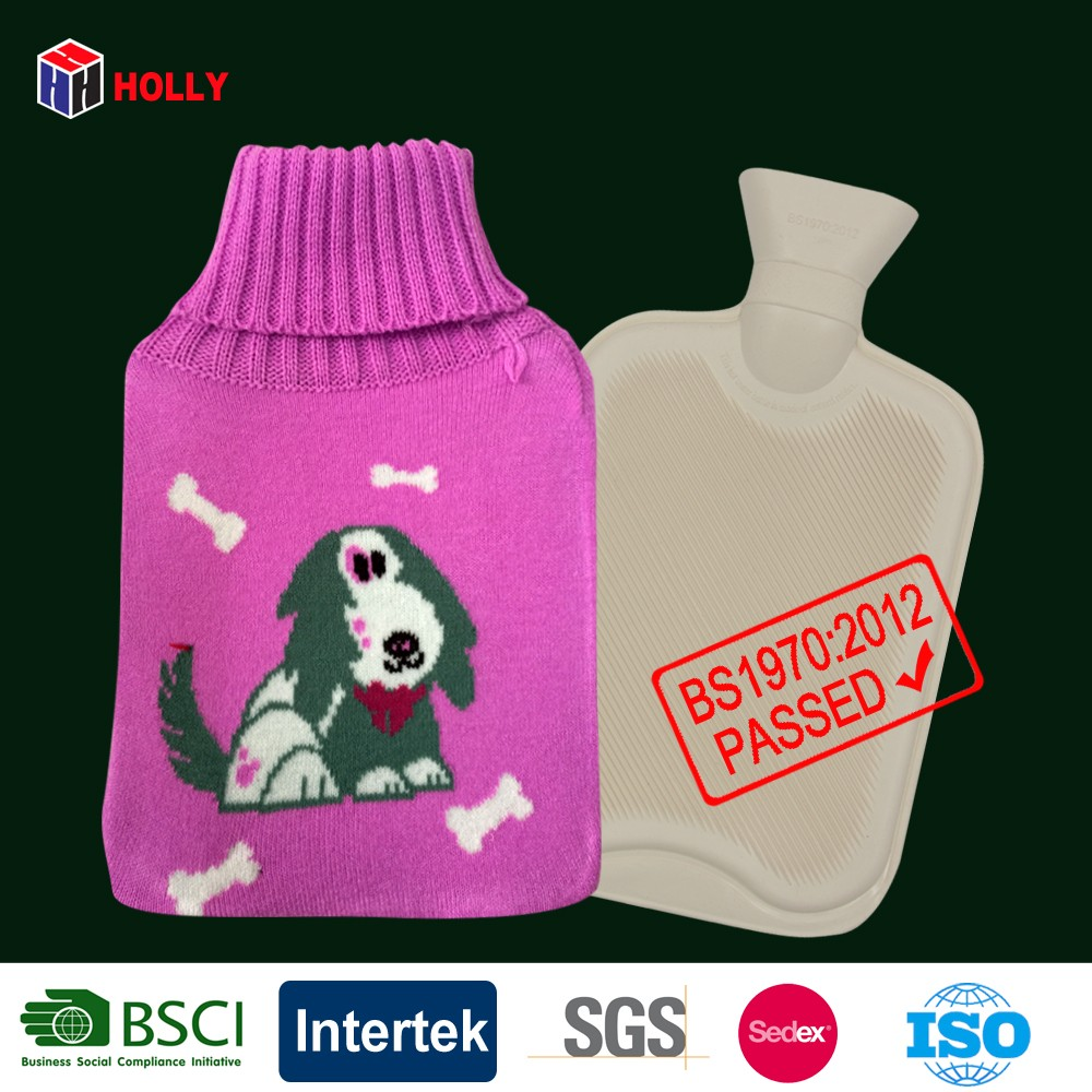 Animal Knitting Pattern Cute Dog Hot Water Bottle With Hot Water Bag ...
