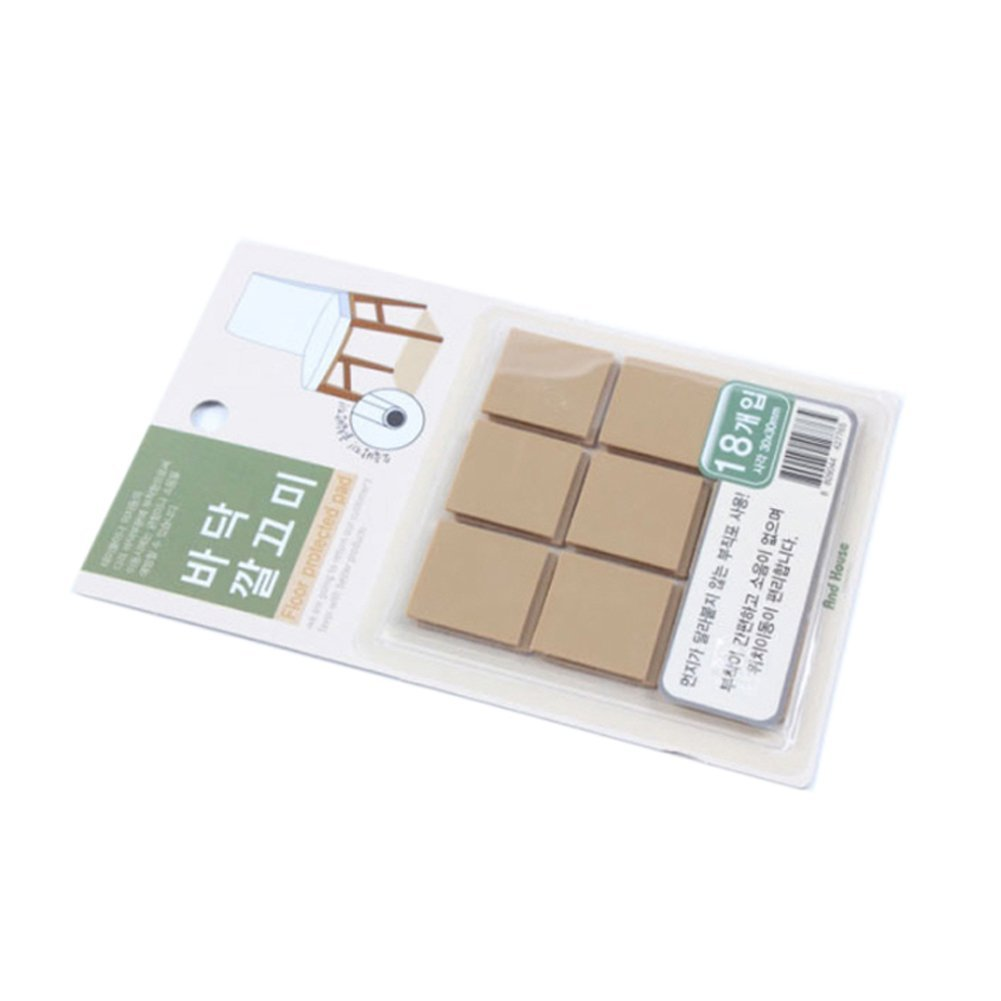 UPIT 145 Anti-skid Furniture Protection Pads Self Adhesive Scratch Protector Square 18p (1.2inch)(30mm)