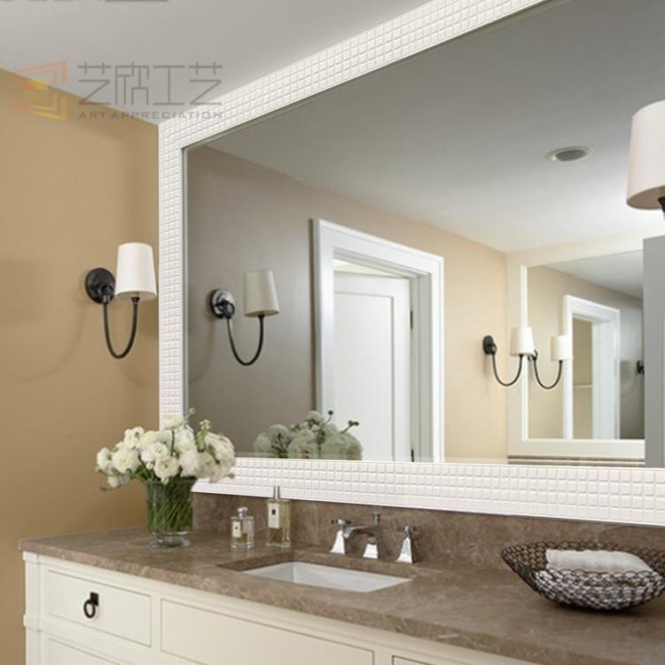 Classica handmade adesivo cornice specchio del bagno specchio da parete cornice cornice dello - Le regole dello specchio ...