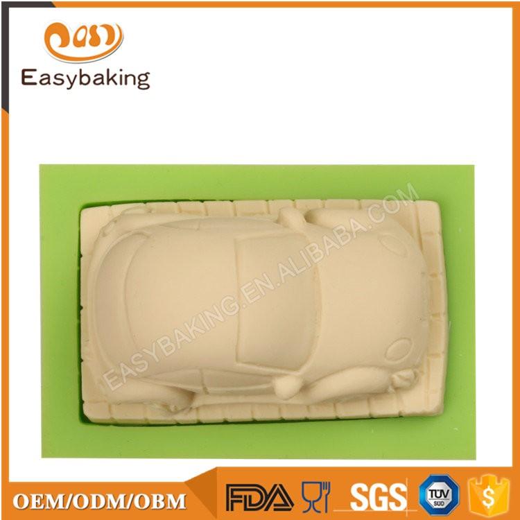 ES-6402 Car Shape Fondant Mould Silicone Molds for Cake Decorating