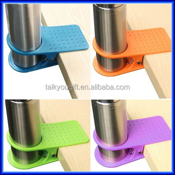 Fashionable Office Plastic Table Coffee Clip Cup Holder, Desk Paper Clip Cup  Holder Glass Drinklip