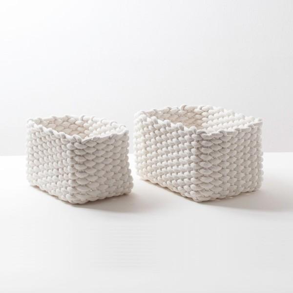 Rectangular Boreal Europa Estilo Gris Crochet Almacenamiento De ...