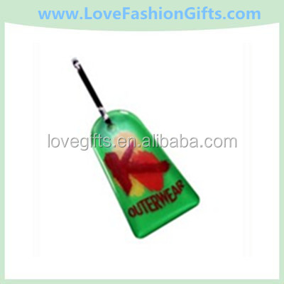 Zipper Pull Charms / Tag with double sided custom shape from 2.1 - 3 Sq. In.