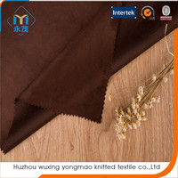 made in China 100 polyester textile shoe materials fabric suede