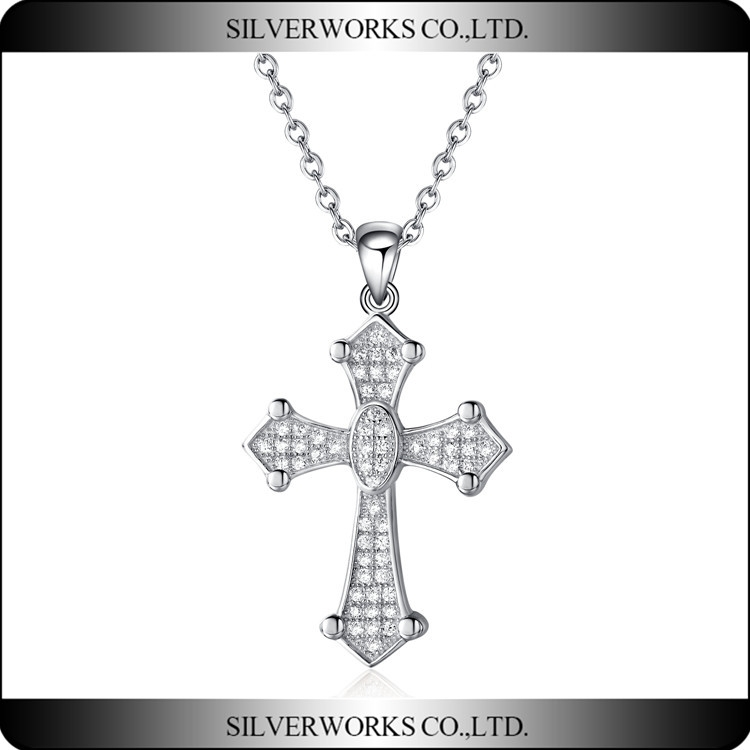 Biggest Size Silver FAST and FURIOUS Dominic Toretto's Cross Necklace Pendant