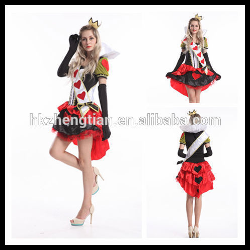 Adult drop ship carnival instyles Halloween costume queen of heart Fancy dress costume