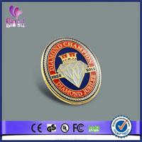 Enamel custom star shape metal lapel pin badge old coins lapel pin