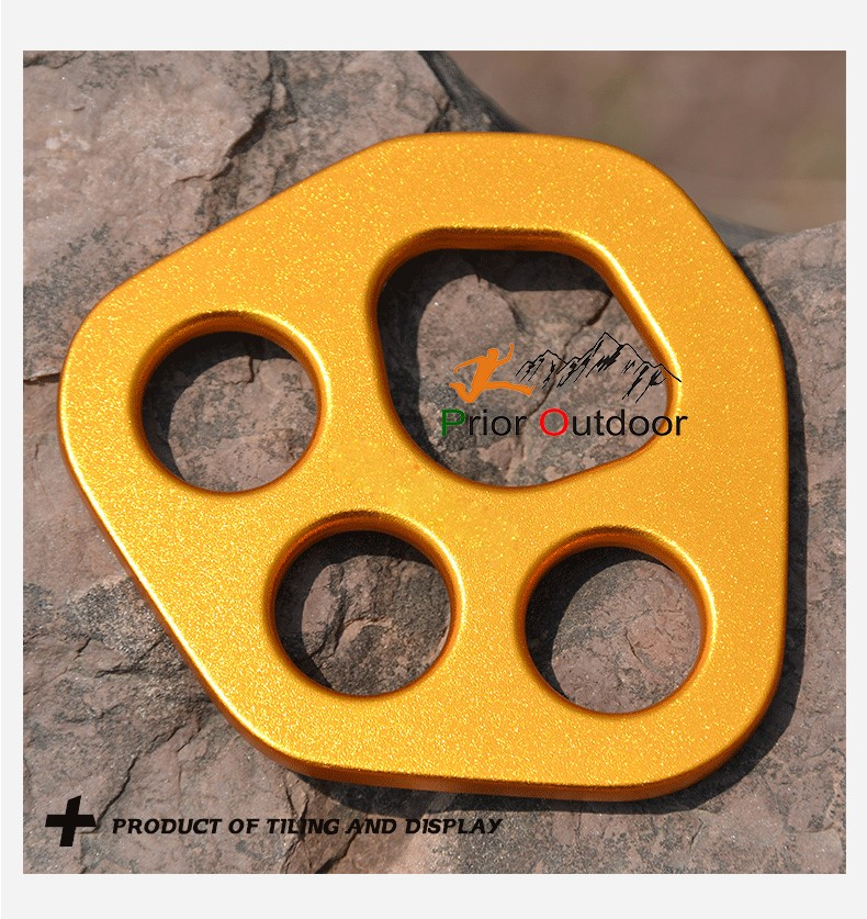 Rigging Anchor Plate with 3 holes Aluminum 7075