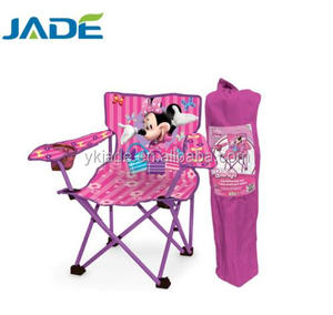 Folding cartoon baby chair with cute animal-printing small folding animal camping chair