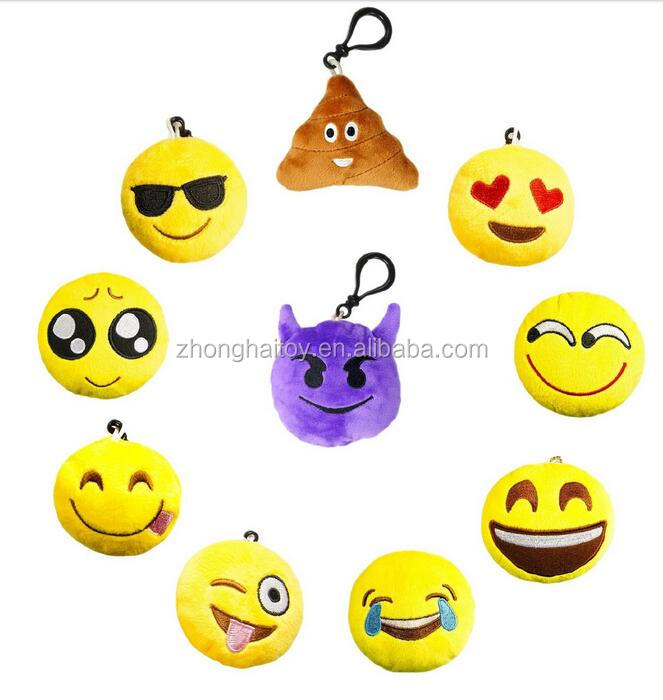 Plush Emoji Keychain/free Sample Custom Emoji Key Chain Strap ...