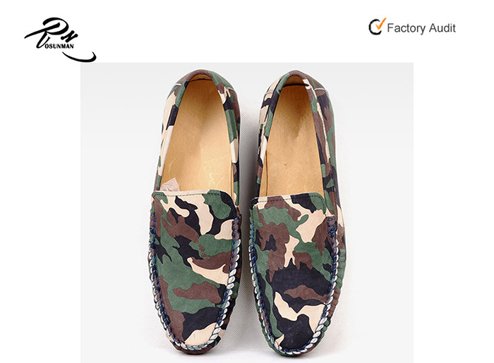 Fashion mocassin for shoes camouflage men driving ZZqw0r7
