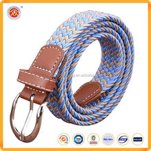 New 2016 Wholesale Casual Women Men Canvas Stretch Braided Elastic Belt
