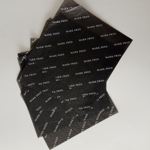High Quality Custom Printed Logo Eco Friendly Black Wrapping Tissue Paper for Present