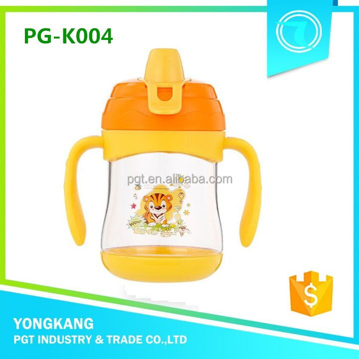 Hot PG-K004 plastic drinking mug with straw waterbottle bpa free tritan cup
