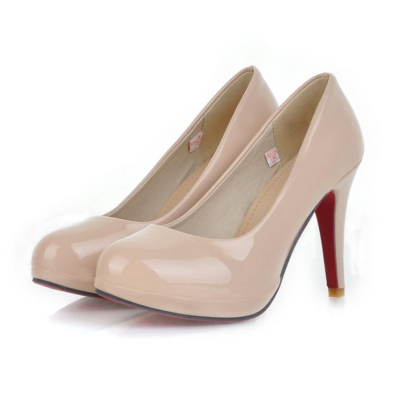 62097c2101a Get Quotations · Red Bottom High Heels Women High Heels Spring Round Toe  Platform Office Thin Black High Heels