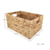 Set of 3 Natural Water hyacinth Woven Storage Baskets with Handle for home and office
