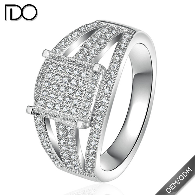 Trade assurance zircon moroccan silver ring jewelry
