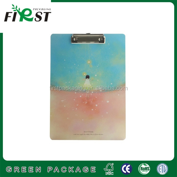 3MM thickness Paperboard hanging file folder with metal clip