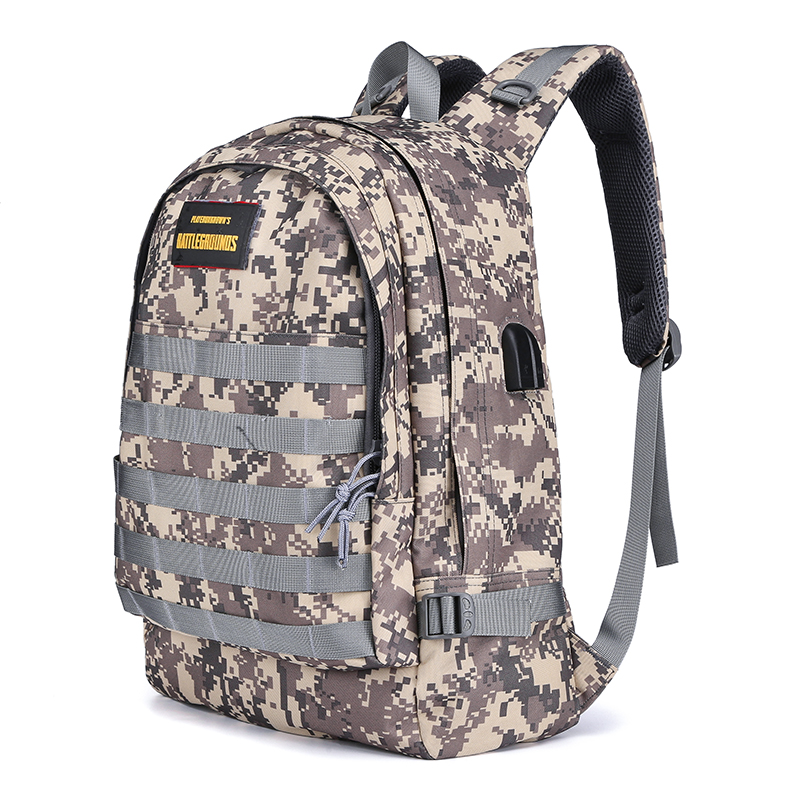 Outdoor molle bag heavy duty shoulder pack military PUBG tactical <strong>backpack</strong> with usb charging for school camping trekking