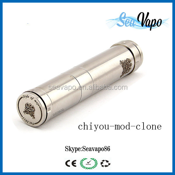 Big vaporizer mechanical mod ecigarette black chi you mod