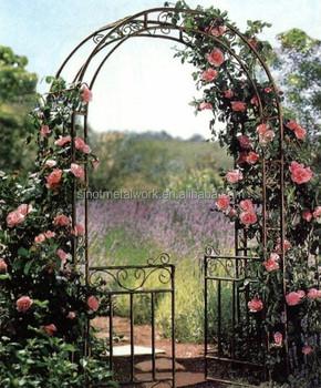 En Fer Forgé Arche à Rosiers Arc De Jardin En Métal Fleur Fermée Arc