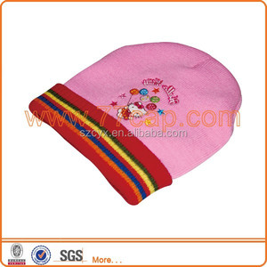 Embroidered beanies with custom embroidery logo Chinese hats