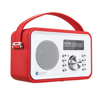 Newest P20 Bluetooth speaker with PU leather cover, USB, FM radio, AUX , clock/alarm/cale ndar and remote control