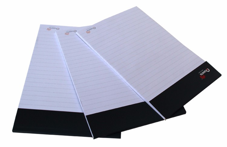 custom color blank writing pad notebook printing with custom logo