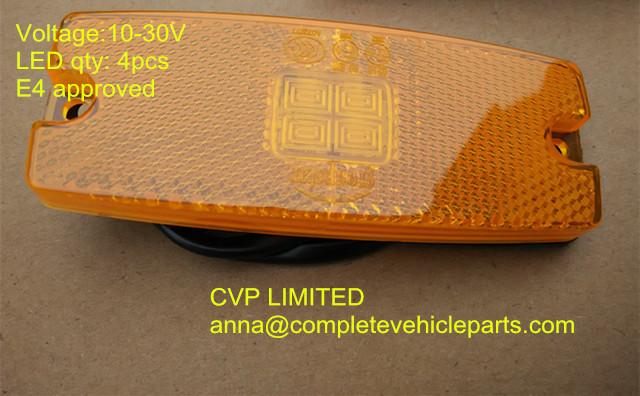 Высокое качество из светодиодов прицеп боковой габаритный фонарь свет лампы с отражателем E4 янтарный оформление передняя контурные огни отражатель